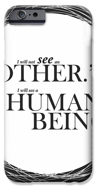 Modern Digital Art iPhone Cases - Typography Print Art Poster iPhone Case by Lab No 4 - The Quotography Department