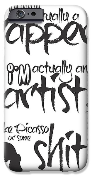 Hip-hop iPhone Cases - Typography Quotes Print Poster iPhone Case by Lab No 4 - The Quotography Department