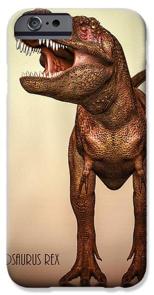 T Rex iPhone Cases - Tyrannosaurus Rex 2 iPhone Case by Bob Orsillo