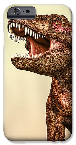 Collect Digital Art iPhone Cases - Tyrannosaurus Rex 2 iPhone Case by Bob Orsillo