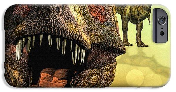 T Rex iPhone Cases - Tyrannosaurus Rex 4 iPhone Case by Bob Orsillo
