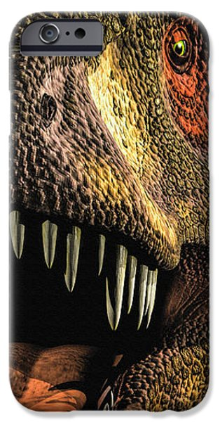 Frame Shop Digital Art iPhone Cases - Tyrannosaurus Rex 4 iPhone Case by Bob Orsillo