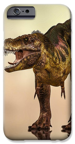 Collect Digital Art iPhone Cases - Tyrannosaurus Rex Dinosaur  iPhone Case by Bob Orsillo
