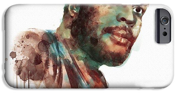 Walker Digital Art iPhone Cases - Tyresee watercolor iPhone Case by Marian Voicu