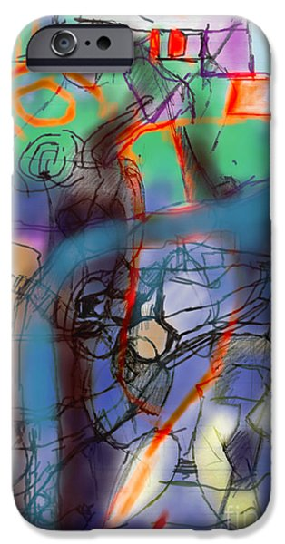 Abstractions iPhone Cases - Tzadik 3a iPhone Case by David Baruch Wolk
