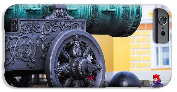 Weapon iPhone Cases - Tzar Cannon Of Moscow Kremlin - Square iPhone Case by Alexander Senin