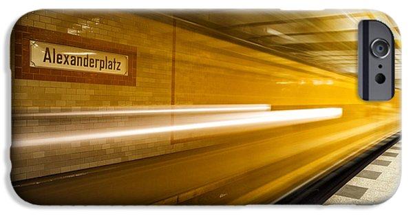 U-bahn iPhone Cases - U-Bahn Berlin 3 iPhone Case by Casper Wilkens