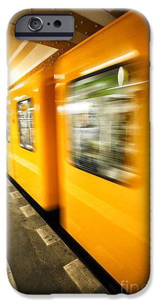 U-bahn iPhone Cases - U-Bahn Berlin 5 iPhone Case by Casper Wilkens