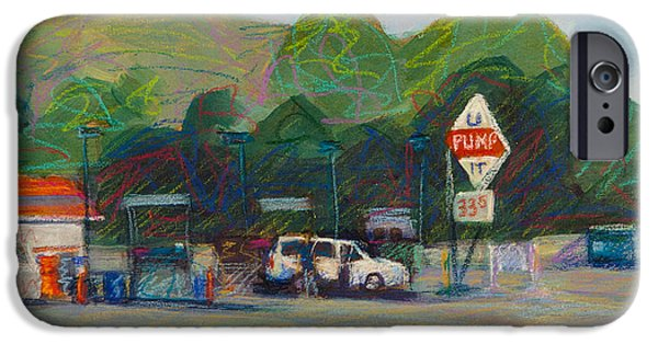 Gas Paintings iPhone Cases - U Pump It iPhone Case by Athena Mantle