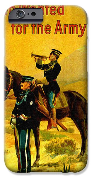 World War One Paintings iPhone Cases - U. S. Army Recruiting Artwork iPhone Case by Big 88 Artworks