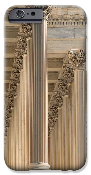 Capitol iPhone Cases - U S Capitol Columns iPhone Case by Steve Gadomski