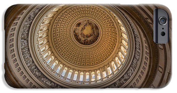 Capitol iPhone Cases - U S Capitol Rotunda iPhone Case by Steve Gadomski