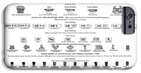 Recently Sold -  - Ww1 iPhone Cases - U. S. Navy - Marine Rank Symbols -  1918 iPhone Case by Daniel Hagerman