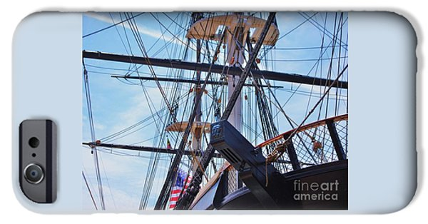 Sailboats iPhone Cases - U S S Constellation Baltimore iPhone Case by Marcus Dagan