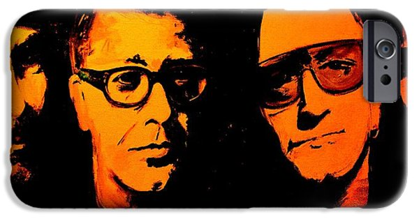 U2 Paintings iPhone Cases - U2 Abstract iPhone Case by John Barth