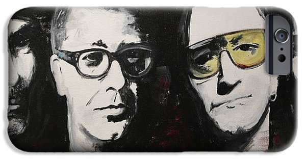 U2 Paintings iPhone Cases - U2 Force iPhone Case by John Barth