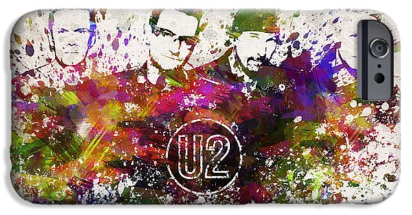House iPhone Cases - U2 in Color iPhone Case by Aged Pixel