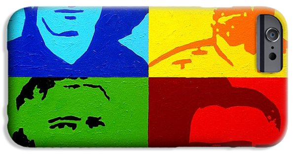 U2 Paintings iPhone Cases - U2 iPhone Case by John  Nolan