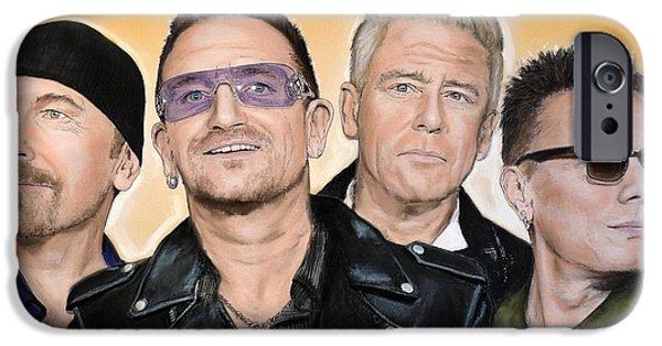 U2 iPhone Cases - U2 iPhone Case by Melanie D