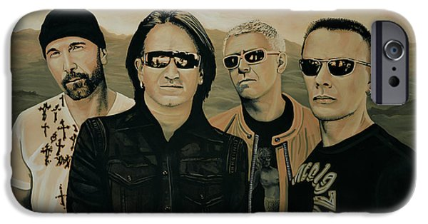 Adam iPhone Cases - U2 Silver And Gold iPhone Case by Paul  Meijering