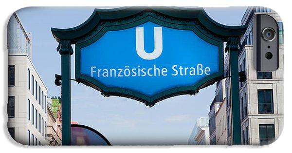 U-bahn iPhone Cases - Ubahn franzosische strasse Berlin Germany iPhone Case by Michal Bednarek