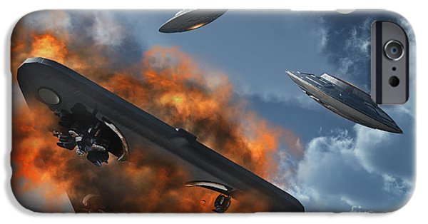 Strange iPhone Cases - Ufos From Different Alien Races iPhone Case by Stocktrek Images