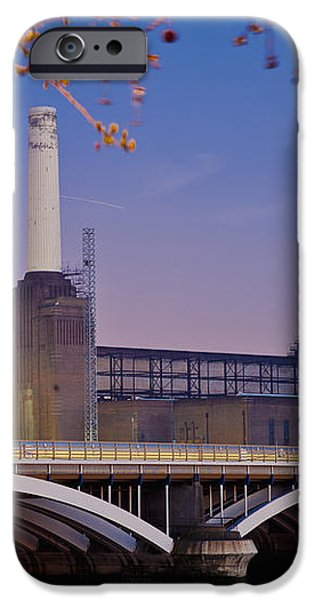 Uk, England, View Of Battersea Power iPhone Case by Dosfotos