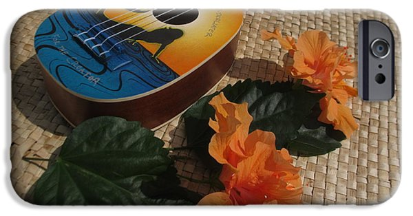 Ukelele iPhone Cases - Ukelele Rhythm iPhone Case by Pamela Funk