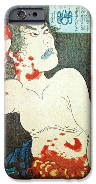 Ukiyo-e Print iPhone Case by Utagawa Kuniyoshi