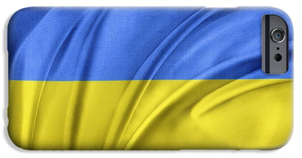 Patriotism iPhone Cases - Ukrainian flag iPhone Case by Les Cunliffe