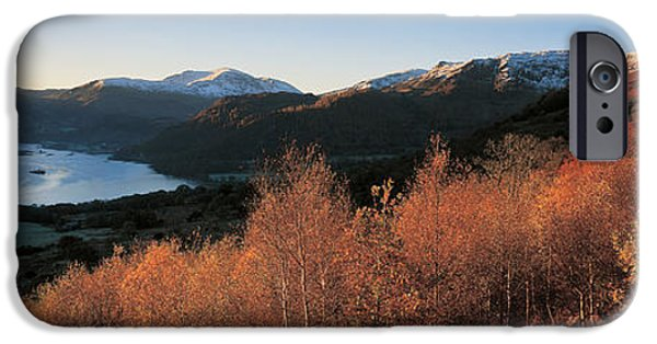 Trees In Snow iPhone Cases - Ullswater Lake District England iPhone Case by Panoramic Images