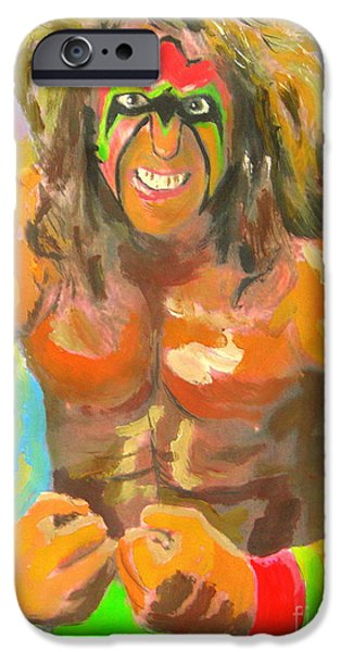 Wwf iPhone Cases - Ultimate Warrior iPhone Case by John Morris