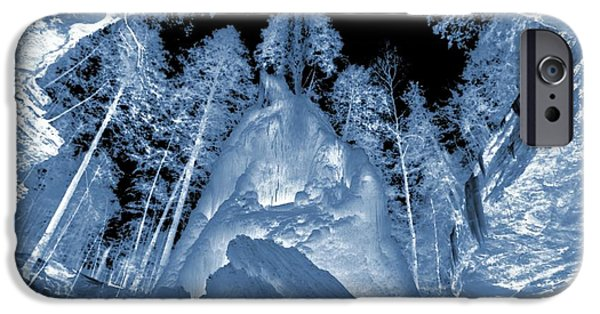 Water In Caves iPhone Cases - Ultraviolet Cave In Winter iPhone Case by Dan Sproul