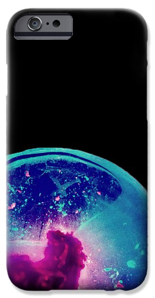 Heart Reliefs iPhone Cases - Ultraviolet Iceworld iPhone Case by Andreas Pettersson
