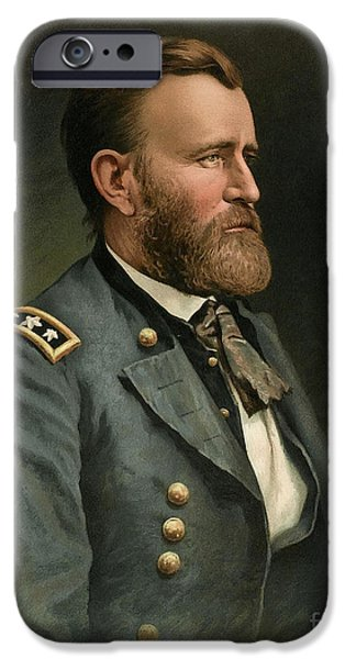 Secession iPhone Cases - Ulysses S Grant 18th US President iPhone Case by Wellcome Images