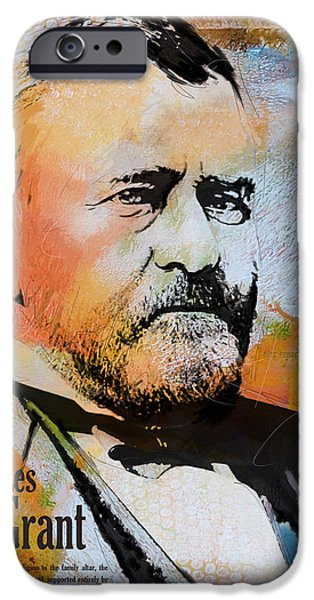 Thomas Jefferson Paintings iPhone Cases - Ulysses S. Grant iPhone Case by Corporate Art Task Force