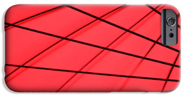 Red Abstract iPhone Cases - Red and Black Abstract iPhone Case by Tony Grider