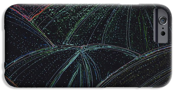 Rainy Day Mixed Media iPhone Cases - Umbrella Night by jrr iPhone Case by First Star Art