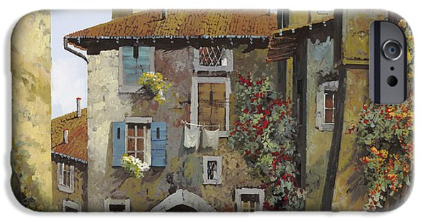Steps Paintings iPhone Cases - Umbria iPhone Case by Guido Borelli