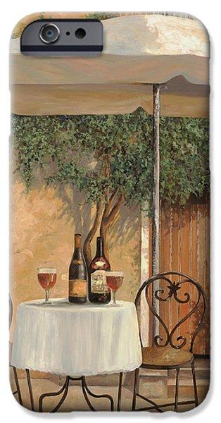 un altro bicchiere prima di pranzo iPhone Case by Guido Borelli
