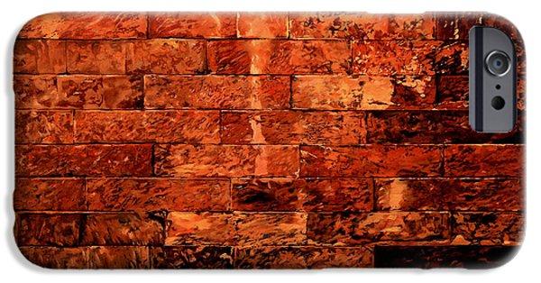 Brick Paintings iPhone Cases - Un Po Per Ridere iPhone Case by Guido Borelli