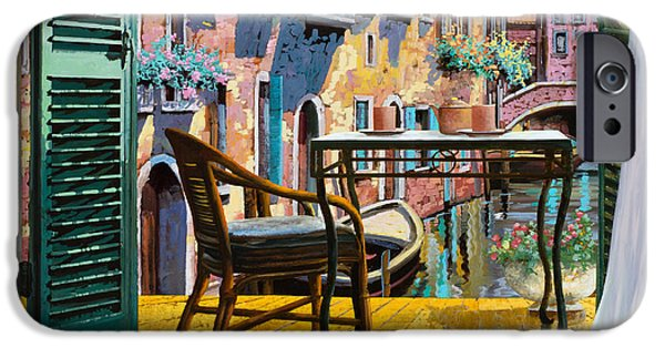 Venice iPhone Cases - Un Soggiorno A Venezia iPhone Case by Guido Borelli