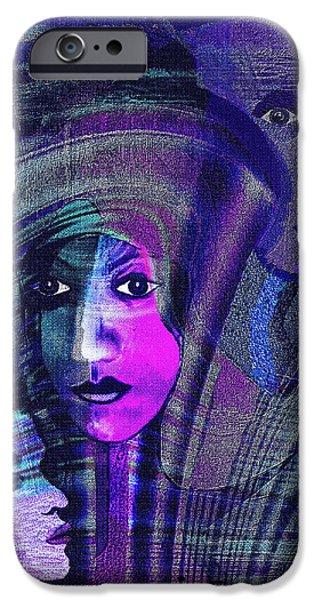Una Madonna arrabbiata - 315   iPhone Case by Irmgard Schoendorf Welch