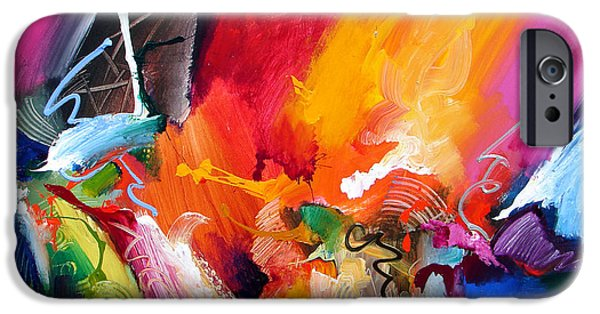 Recently Sold -  - Abstract Expressionist iPhone Cases - Unbounded Ecstasy iPhone Case by Jonas Gerard