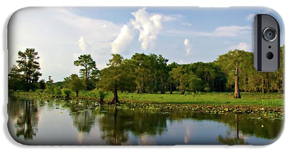 Caddo Lake iPhone Cases - Uncertain Reflection iPhone Case by Lana Trussell