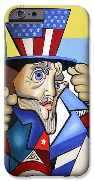 Uncle Sam iPhone Cases - Uncle Sam 2001 iPhone Case by Anthony Falbo