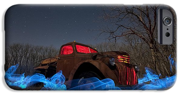 Moon Light iPhone Cases - Uncle Toms Water Truck iPhone Case by Keith Kapple