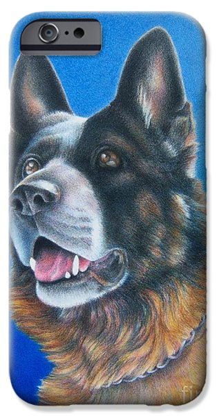 Police Art Drawings iPhone Cases - Unconditional iPhone Case by Pamela Clements