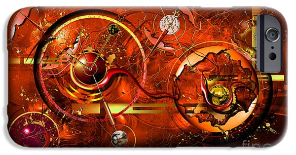 Clockwork iPhone Cases - Uncontrolled Reality iPhone Case by Franziskus Pfleghart