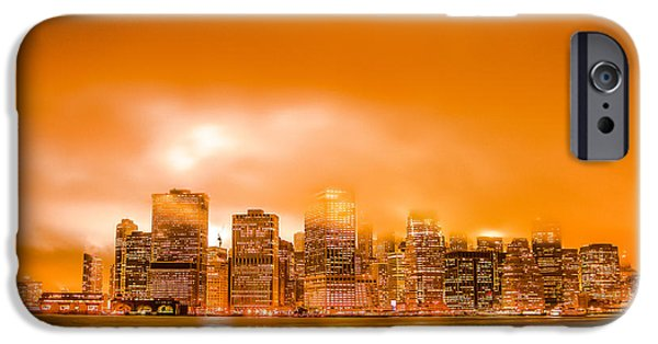 Twin Towers Nyc iPhone Cases - Under a Blood Red Sky part two iPhone Case by Alex Hiemstra